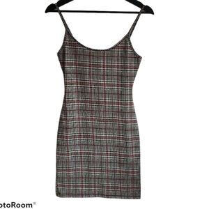 Bear Dance/Fashion Nova Plaid Cami Mini Dress Sz M